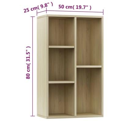 """vidaXL Book Cabinet/Sideboard Sonoma Oak 17.7""""x9.8""""x31.5"""" Chipboard[11/12]"""