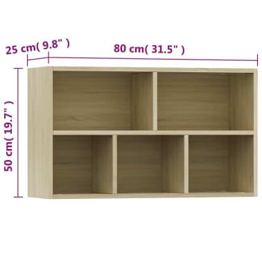 """vidaXL Book Cabinet/Sideboard Sonoma Oak 17.7""""x9.8""""x31.5"""" Chipboard[12/12]"""