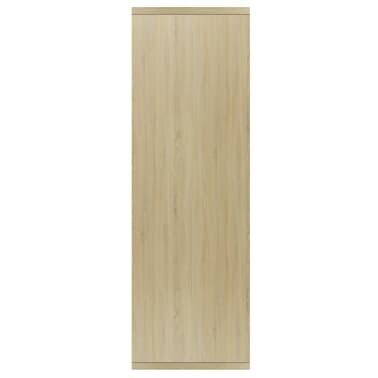 """vidaXL Book Cabinet/Sideboard Sonoma Oak 17.7""""x9.8""""x31.5"""" Chipboard[5/12]"""