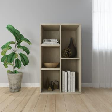 """vidaXL Book Cabinet/Sideboard Sonoma Oak 17.7""""x9.8""""x31.5"""" Chipboard[1/12]"""