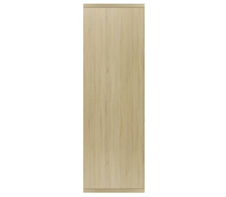 "vidaXL Book Cabinet/Sideboard White and Sonoma Oak 17.7""x9.8""x31.5""[5/12]"