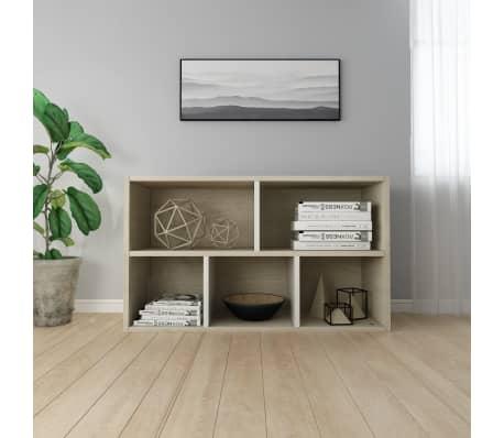 "vidaXL Book Cabinet/Sideboard White and Sonoma Oak 17.7""x9.8""x31.5""[6/12]"