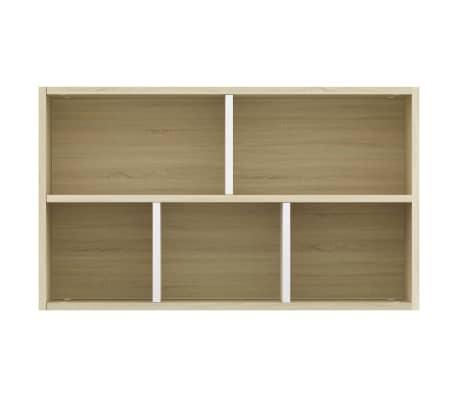 "vidaXL Book Cabinet/Sideboard White and Sonoma Oak 17.7""x9.8""x31.5""[9/12]"