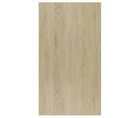"vidaXL Book Cabinet/Sideboard White and Sonoma Oak 17.7""x9.8""x31.5""[10/12]"