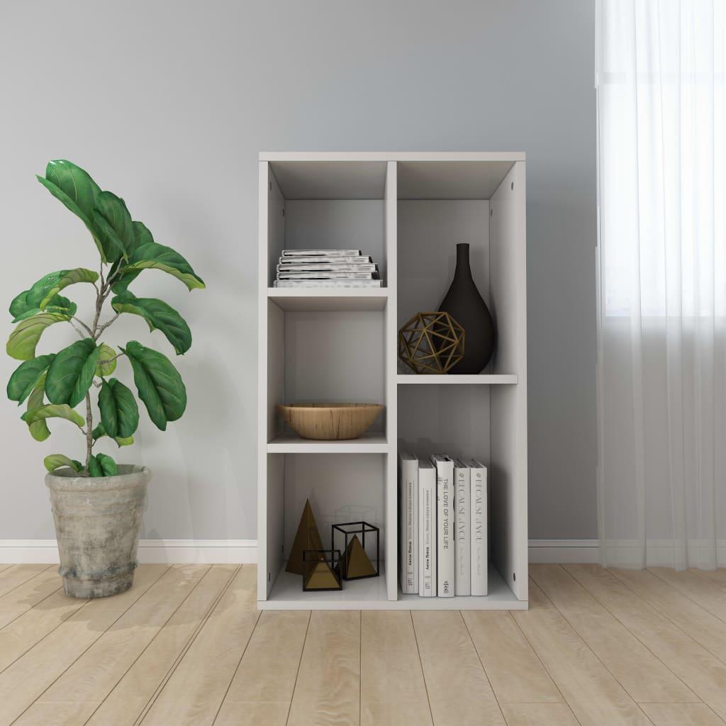 Knihovna/příborník bílá vysoký lesk 45 x 25 x 80 cm dřevotříska