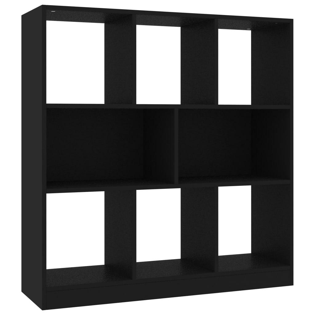 vidaXL Βιβλιοθήκη Μαύρη 97,5 x 29,5 x 100 εκ. από Μοριοσανίδα
