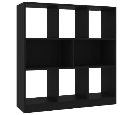 "vidaXL Book Cabinet Black 38.4""x11.6""x39.4"" Chipboard"