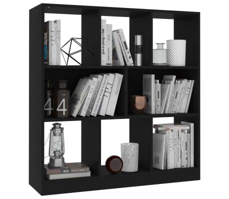 "vidaXL Book Cabinet Black 38.4""x11.6""x39.4"" Chipboard[3/6]"