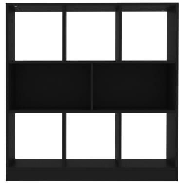 "vidaXL Book Cabinet Black 38.4""x11.6""x39.4"" Chipboard[4/6]"