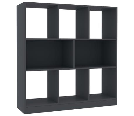"vidaXL Book Cabinet Gray 38.4""x11.6""x39.4"" Chipboard[2/6]"