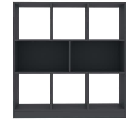 "vidaXL Book Cabinet Gray 38.4""x11.6""x39.4"" Chipboard[4/6]"