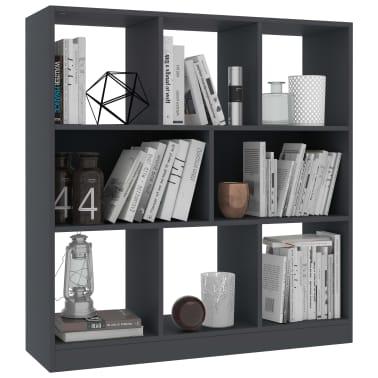 "vidaXL Book Cabinet Gray 38.4""x11.6""x39.4"" Chipboard[3/6]"