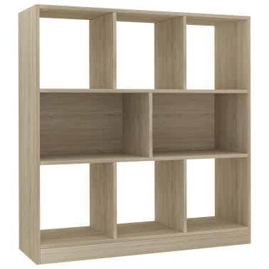 "vidaXL Book Cabinet Sonoma Oak 38.4""x11.6""x39.4"" Chipboard[2/6]"