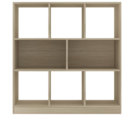 "vidaXL Book Cabinet Sonoma Oak 38.4""x11.6""x39.4"" Chipboard[4/6]"