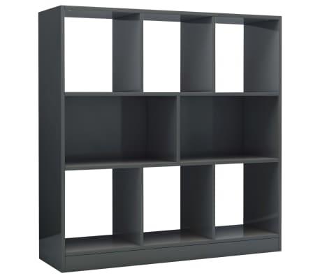 vidaXL Boekenkast 97,5x29,5x100 cm spaanplaat hoogglans grijs
