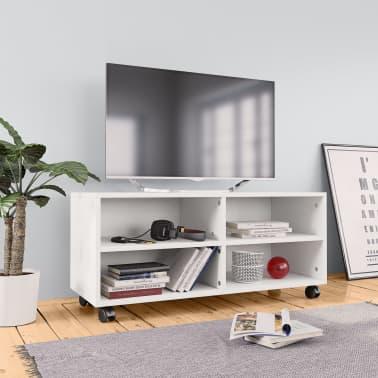 Stevige Tv Kast.Vidaxl Tv Meubel Met Wieltjes 90x35x35 Cm Spaanplaat Wit Vidaxl Nl