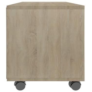 "vidaXL TV Cabinet with Castors Sonoma Oak 35.4""x13.8""x13.8"" Chipboard[5/6]"