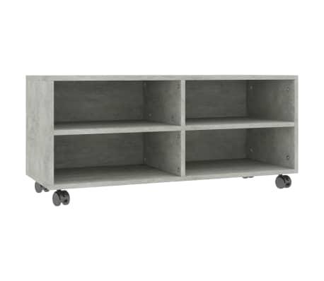 "vidaXL TV Cabinet with Castors Concrete Gray 35.4""x13.8""x13.8"" Chipboard[2/6]"