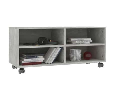 "vidaXL TV Cabinet with Castors Concrete Gray 35.4""x13.8""x13.8"" Chipboard[3/6]"
