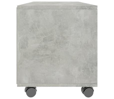 "vidaXL TV Cabinet with Castors Concrete Gray 35.4""x13.8""x13.8"" Chipboard[5/6]"