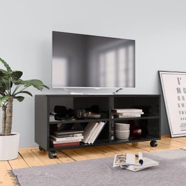 Wieltjes Tv Meubel.Vidaxl Tv Meubel Met Wieltjes 90x35x35 Cm Spaanplaat Hoogglans