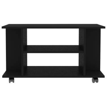 "vidaXL TV Cabinet with Castors Black 31.5""x15.7""x15.7"" Chipboard[4/6]"