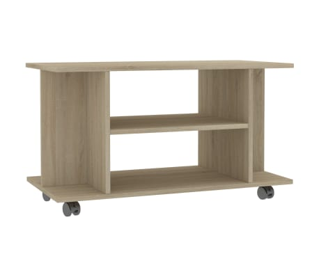 "vidaXL TV Cabinet with Castors Sonoma Oak 31.5""x15.7""x15.7"" Chipboard"