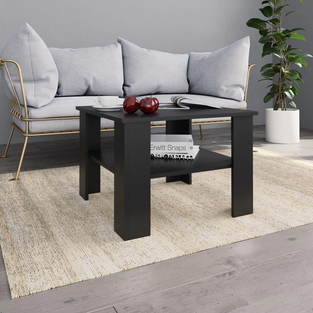 vidaXL Konferenční stolek černý 60 x 60 x 42 cm dřevotříska