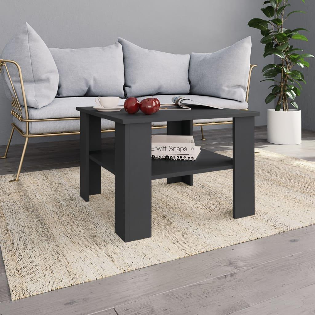 vidaXL Konferenční stolek šedý 60 x 60 x 42 cm dřevotříska
