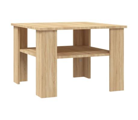 "vidaXL Coffee Table Sonoma Oak 23.6""x23.6""x16.5"" Chipboard"
