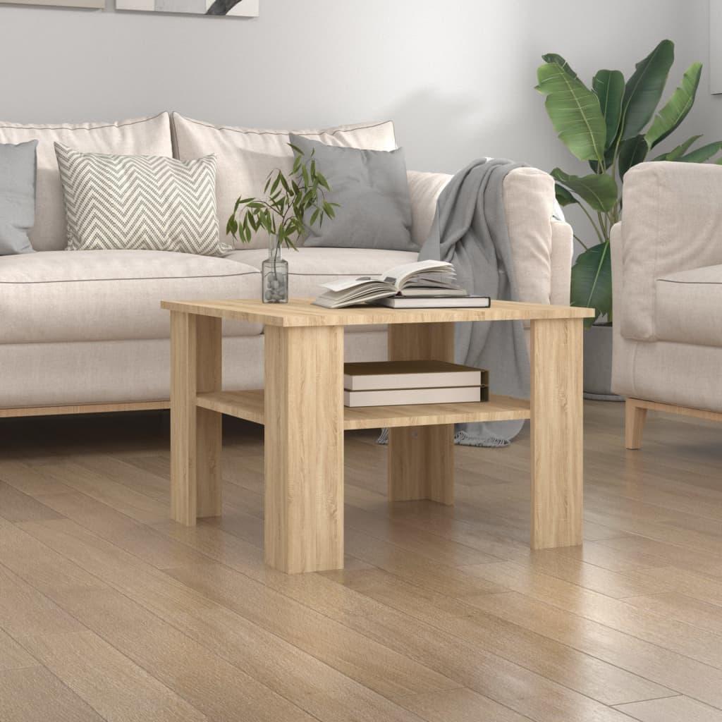 Konferenční stolek dub sonoma 60 x 60 x 42 cm dřevotříska