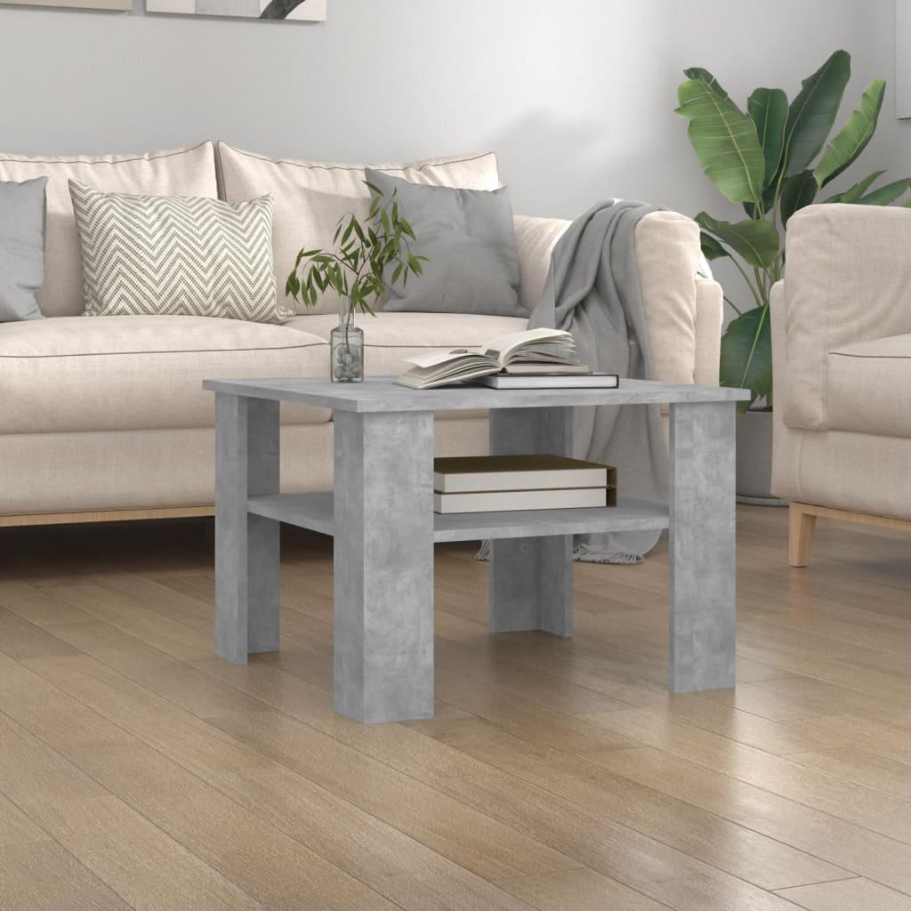 Konferenční stolek betonově šedý 60 x 60 x 42 cm dřevotříska