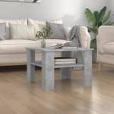 vidaXL betonszürke forgácslap dohányzóasztal 60 x 60 x 42 cm