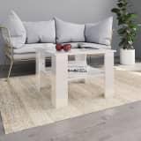vidaXL Tavolino da Caffè Bianco Lucido 60x60x42 cm in Truciolato