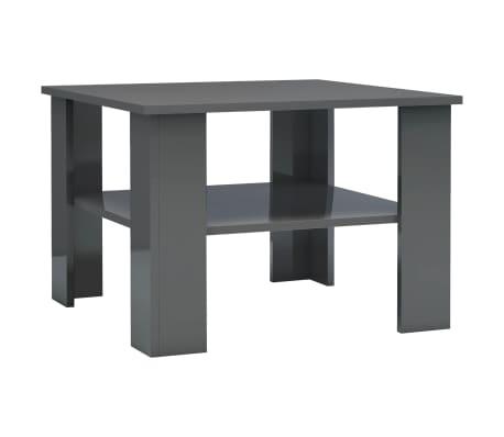 vidaXL Coffee Table High Gloss Grey 60x60x42 cm Chipboard