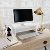 vidaXL Monitor Stand White 42x24x13 cm Chipboard