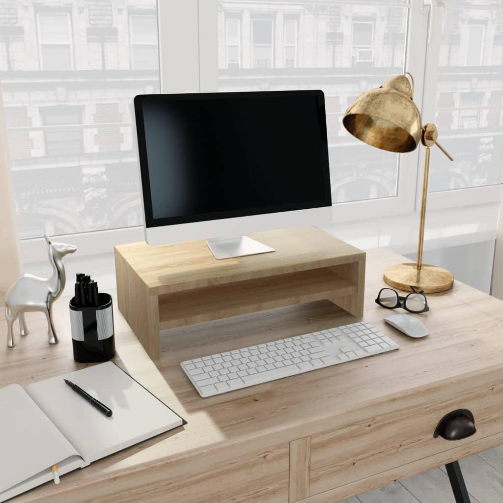 Stojan na monitor dub sonoma 42 x 24 x 13 cm dřevotříska