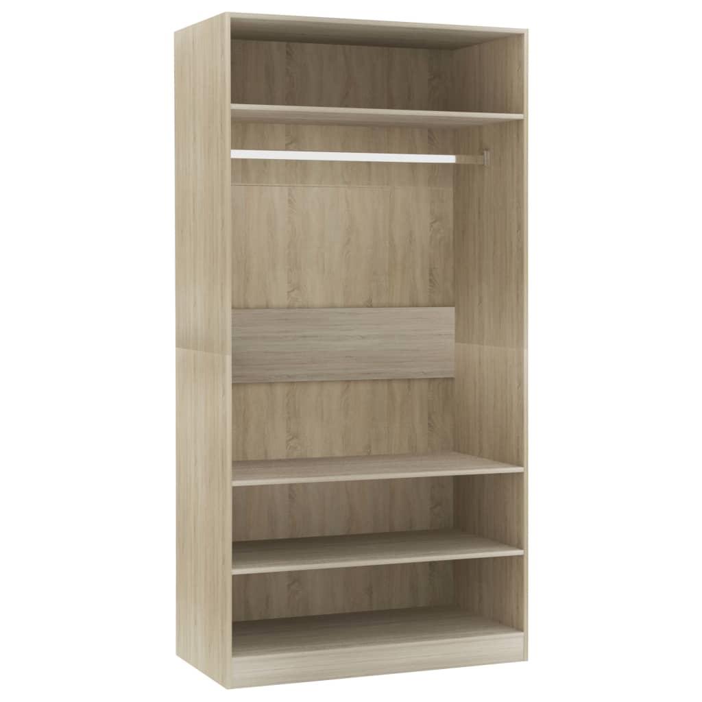 vidaXL Šatní skříň dub sonoma 100 x 50 x 200 cm dřevotříska
