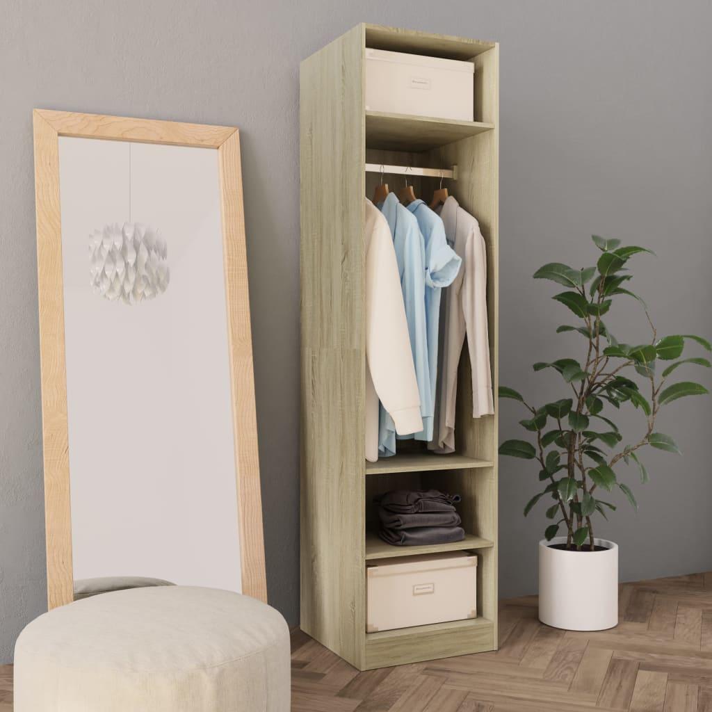Šatní skříň dub sonoma 50 x 50 x 200 cm dřevotříska