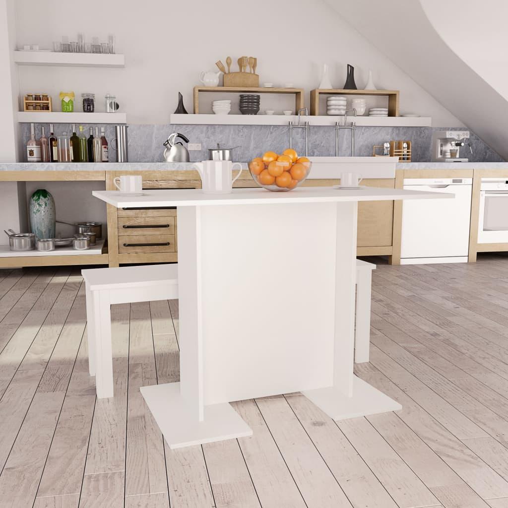 Jídelní stůl bílý 110 x 60 x 75 cm dřevotříska