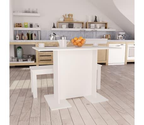 "vidaXL Dining Table White 43.3""x23.6""x29.5"" Chipboard[1/6]"