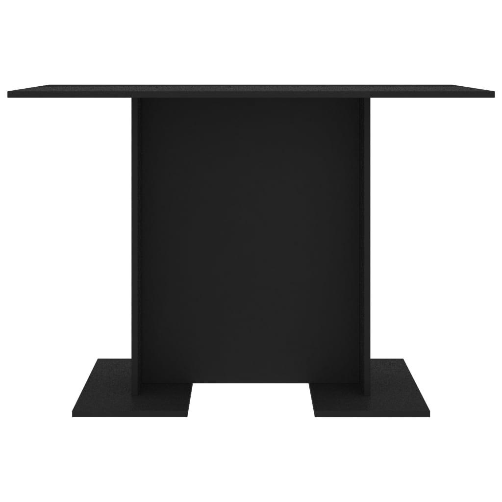 vidaXL Eettafel 110x60x75 cm spaanplaat zwart