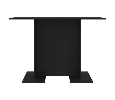 vidaXL Eettafel 110x60x75 cm spaanplaat zwart[3/6]