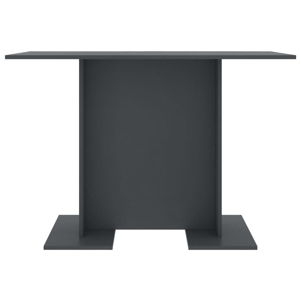 vidaXL Eettafel 110x60x75 cm spaanplaat grijs