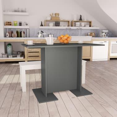"""vidaXL Dining Table Grey 43.3""""x23.6""""x29.5"""" Chipboard[1/6]"""