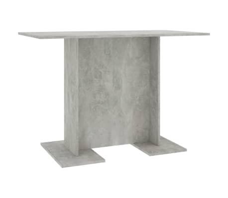 vidaXL Table de salle à manger Gris béton 110 x 60 x 75 cm Aggloméré