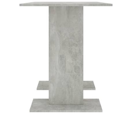 vidaXL Eettafel 110x60x75 cm spaanplaat betongrijs[4/5]