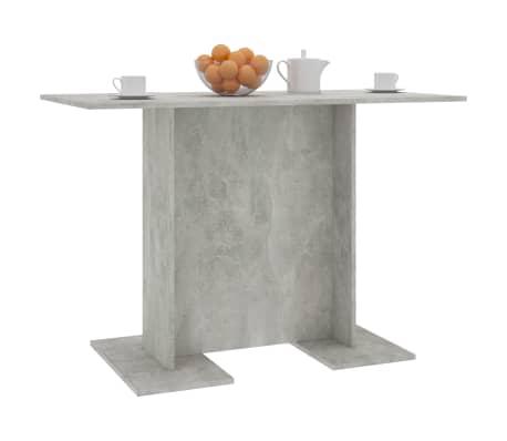 vidaXL Eettafel 110x60x75 cm spaanplaat betongrijs[5/5]