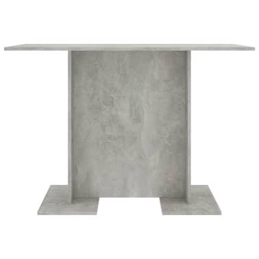 vidaXL Eettafel 110x60x75 cm spaanplaat betongrijs[3/5]