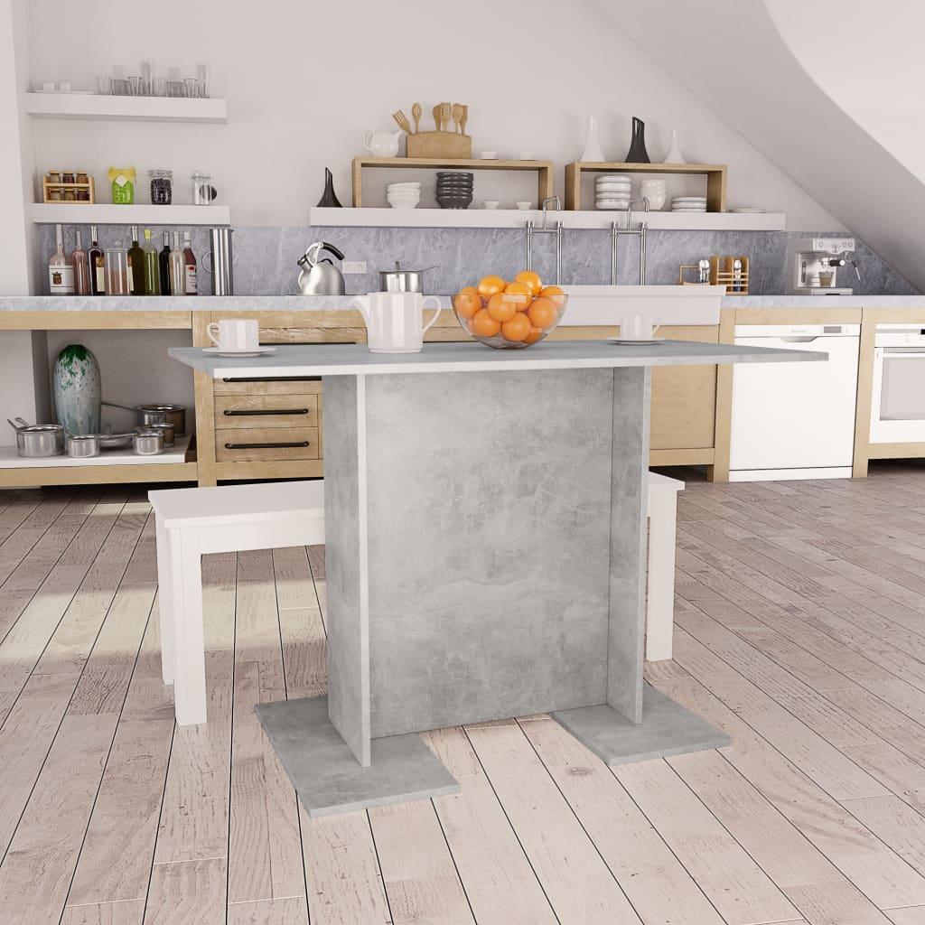 vidaXL spisebord 110 x 60 x 75 cm spånplade betongrå